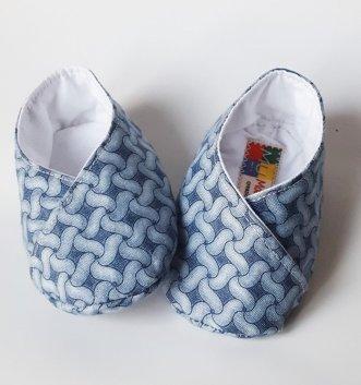 scarpine neonato grigio fantasia